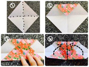 折り紙でハートの形1
