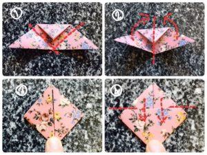 折り紙でハートの形3