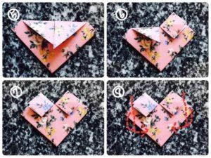 折り紙でハートの形4